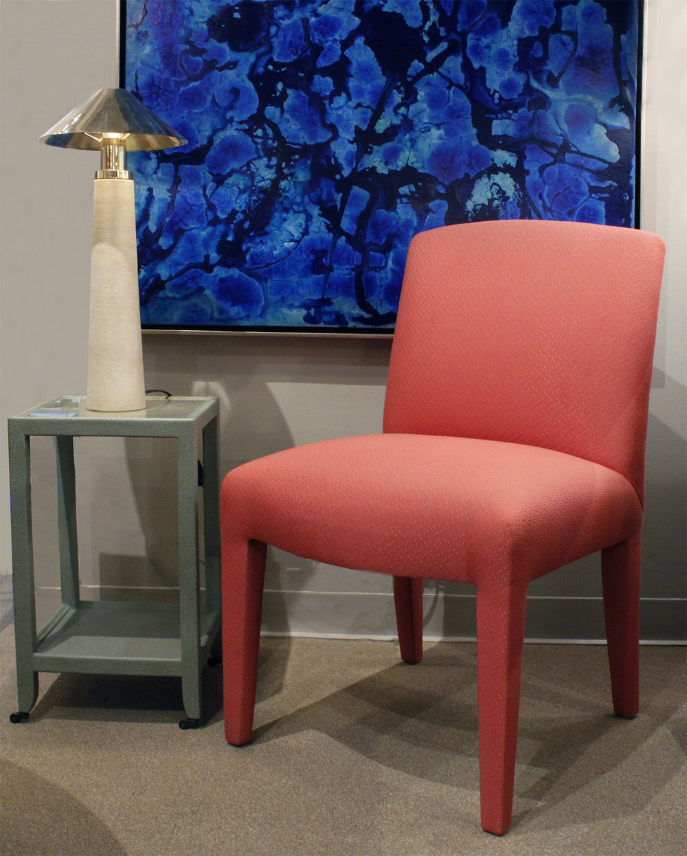Donghia 120 set of 10 salmon pink diningchairs185 atm.jpg