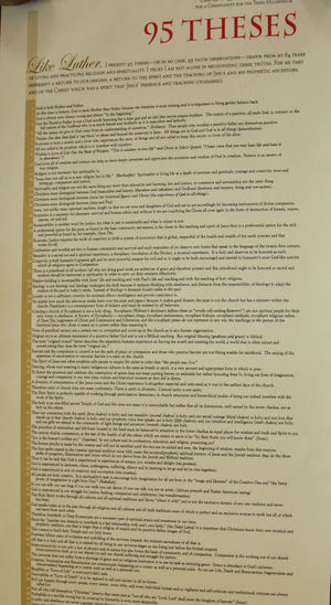 the 95 theses in english
