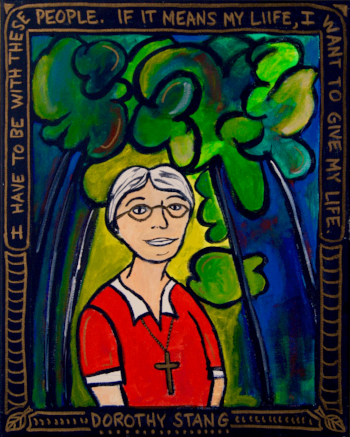 Dorothy Stang, by Marcy Hall:  https://www.facebook.com/RabbitRoomArts/  Used with permission from FutureChurch  https://futurechurch.org  No further use of this image is permitted without the express consent of FutureChurch.