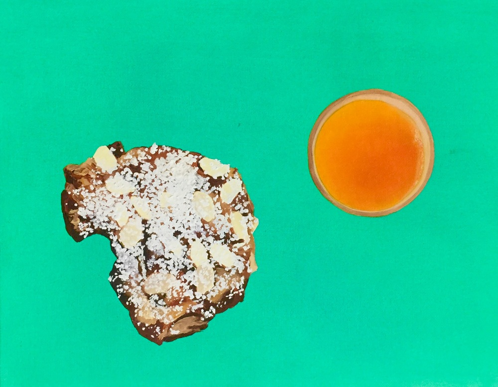 Almond Croissant and OJ