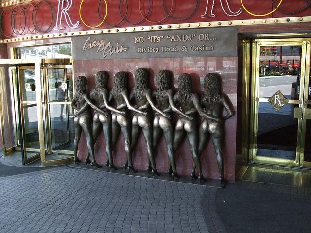 Crazy Girls statue in Las Vegas.  https://s-media-cache-ak0.pinimg.com/736x/d9/2a/95/d92a95b22f70e34499f59f343feeb6f7.jpg