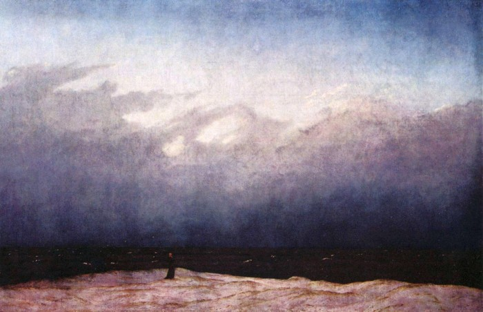 Caspar David Friedrich, Monk by the Sea, c. 1808–1810, oil on canvas.