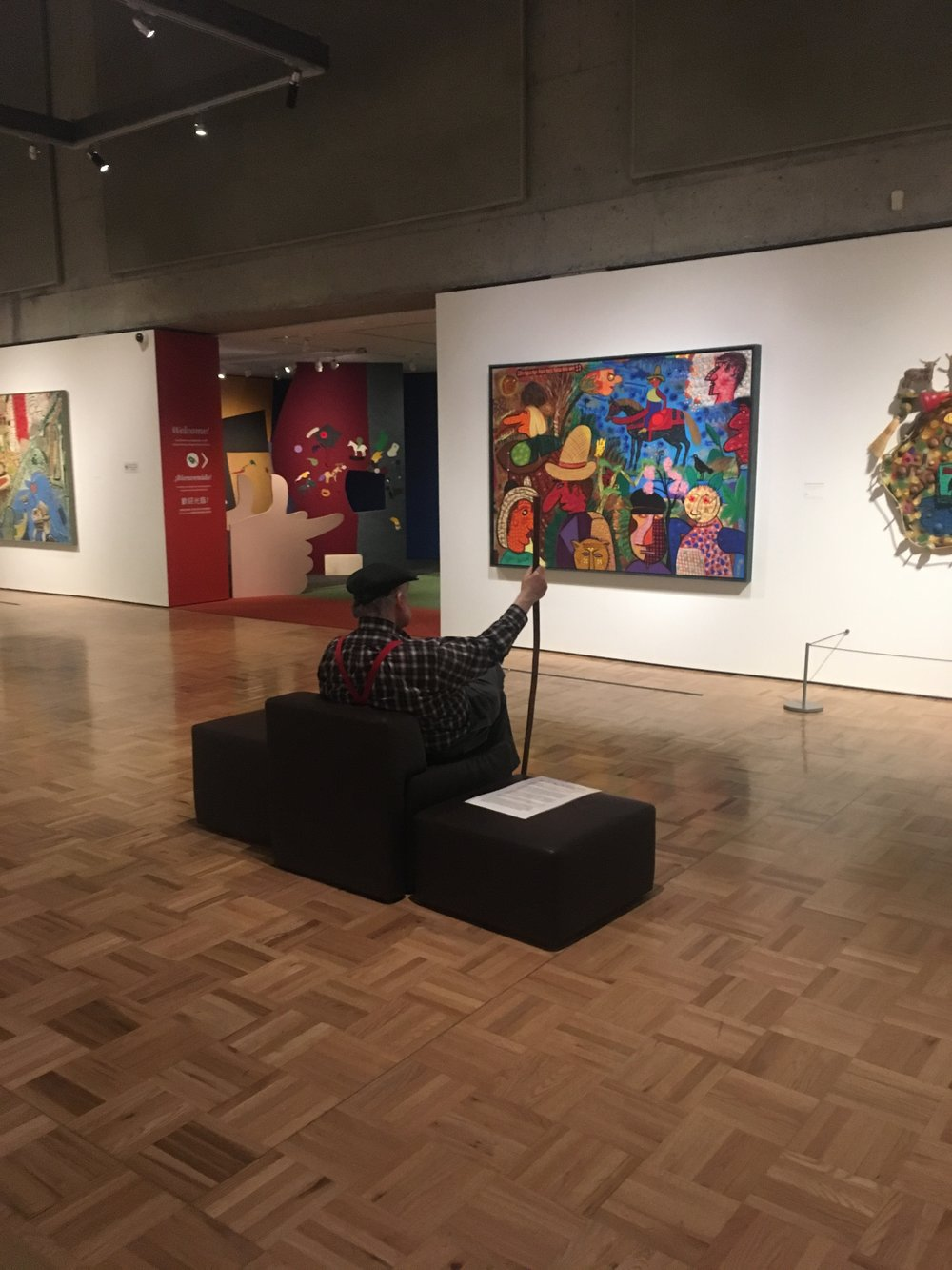 Installation shot,  Of Dogs and Other People: The Art of Roy De Forest , Oakland Musuem of California, Oakland, CA. Photo by the author.