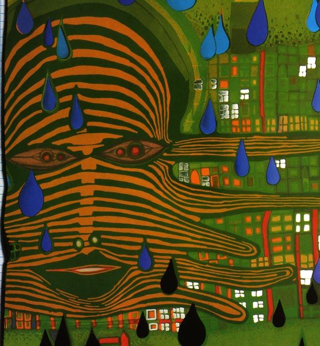 Friedensreich  Hundertwasser,  Green Power , 1972.