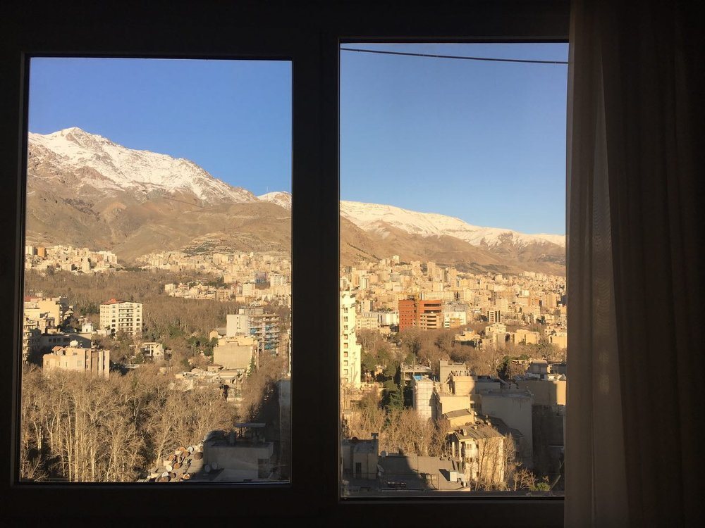 Shaghayegh Cyrous, 3:00 PM, Clear Sky __________ ٣:٠٠ بعدازظهر January, 02, 2017___________١٣ دى ١٣٩٥ Tehran, Iran__________ تهران، ايران, printed photograph, 2017. Image courtesy of the artist.