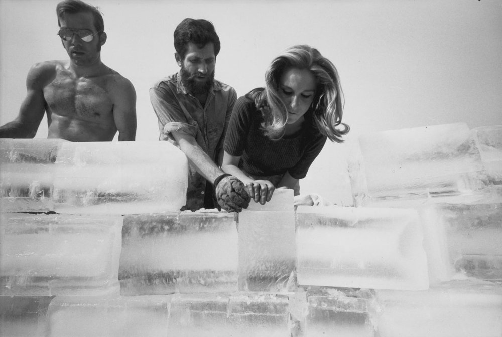 Allan Kaprow:  Fluids , 1967, Getty Research Institute, Los Angeles (980063). from the collection of the Allan Kaprow Estate and Hauser & Wirth. Photo copyright of Julian Wasser.