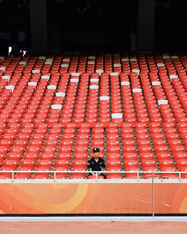 Inside the Bird's Nest Stadium, Beijing. 🇨🇳