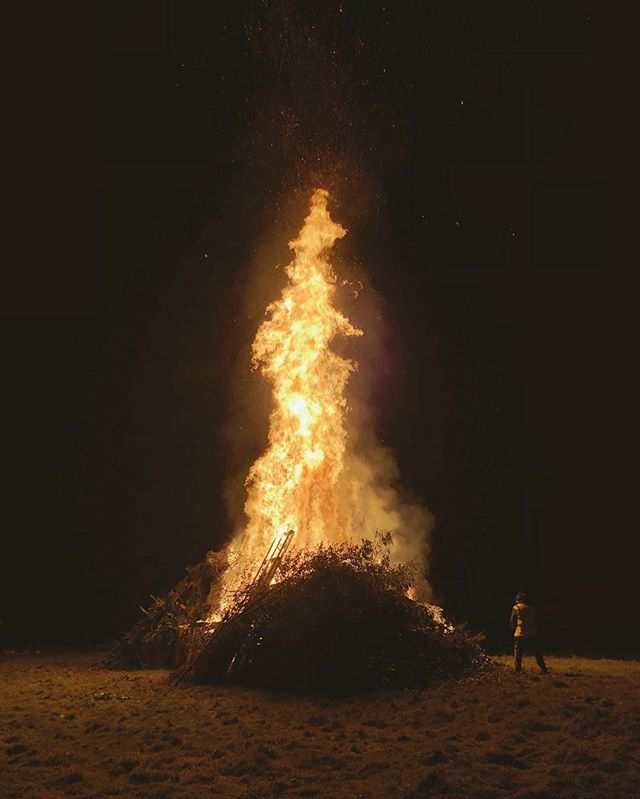 Bonfire night in the village. 🔥
