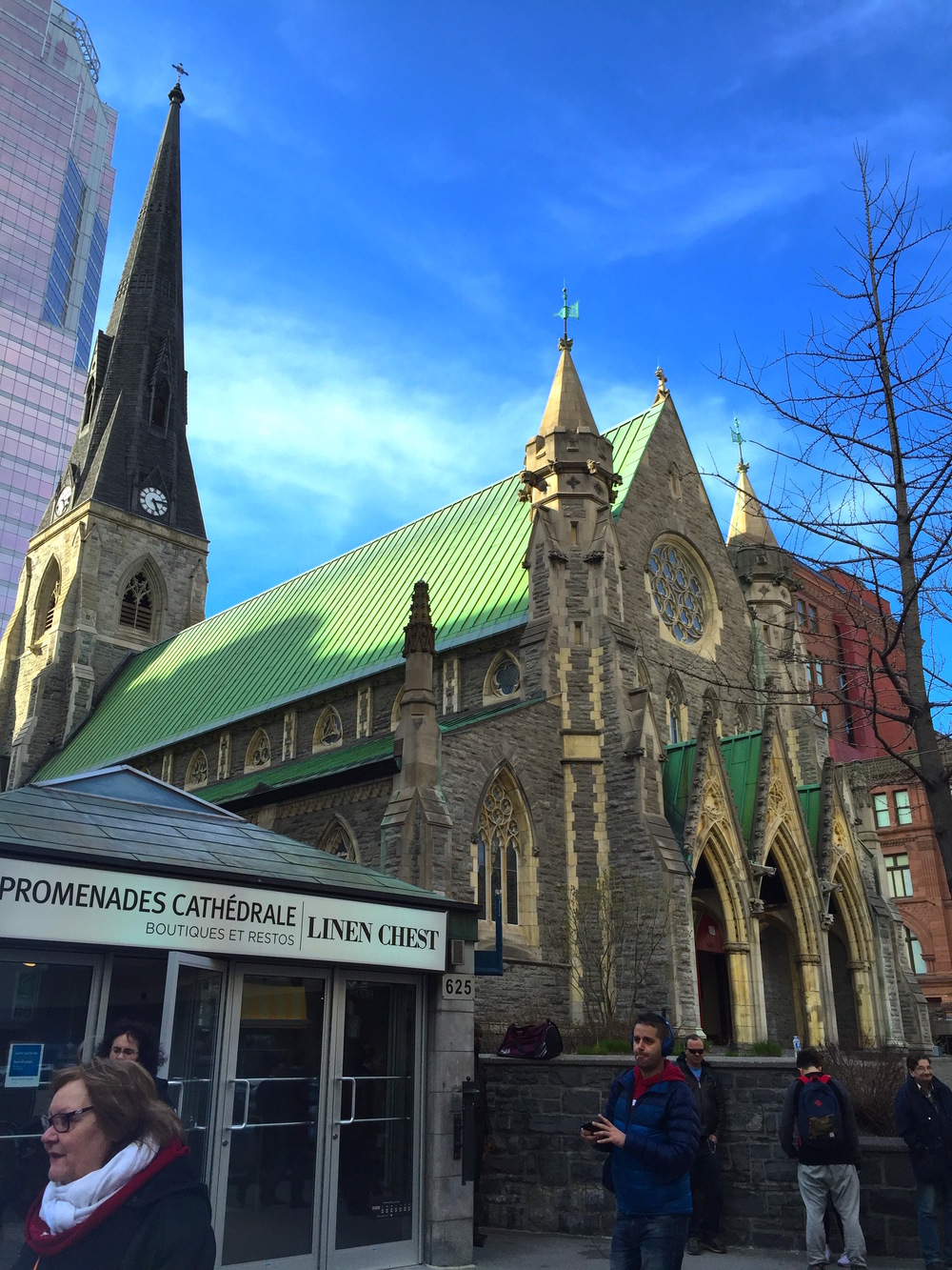 Christ Church Cathedral in Downtown Montreal