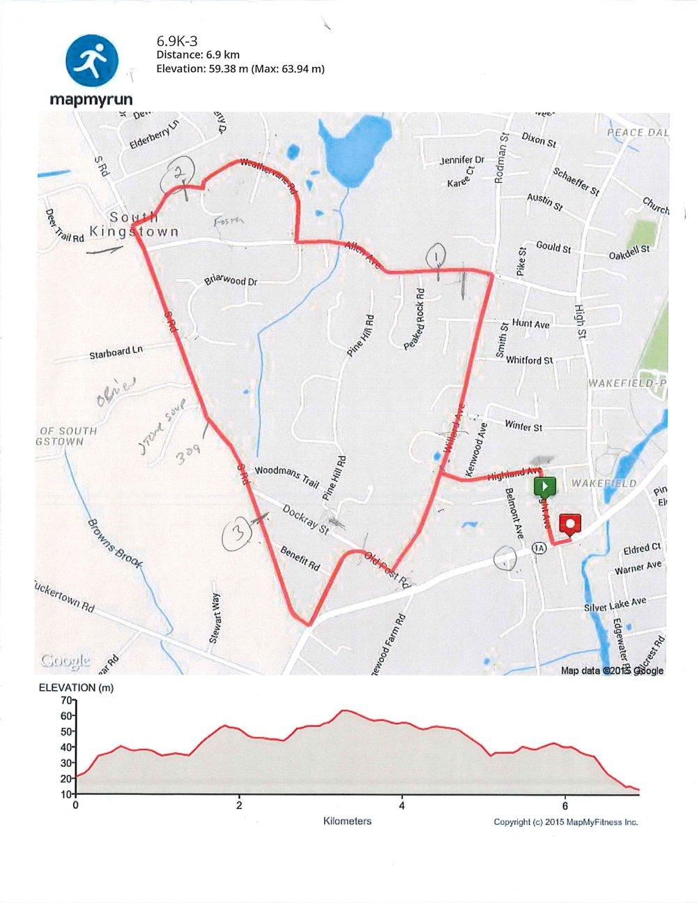 Road Race Map