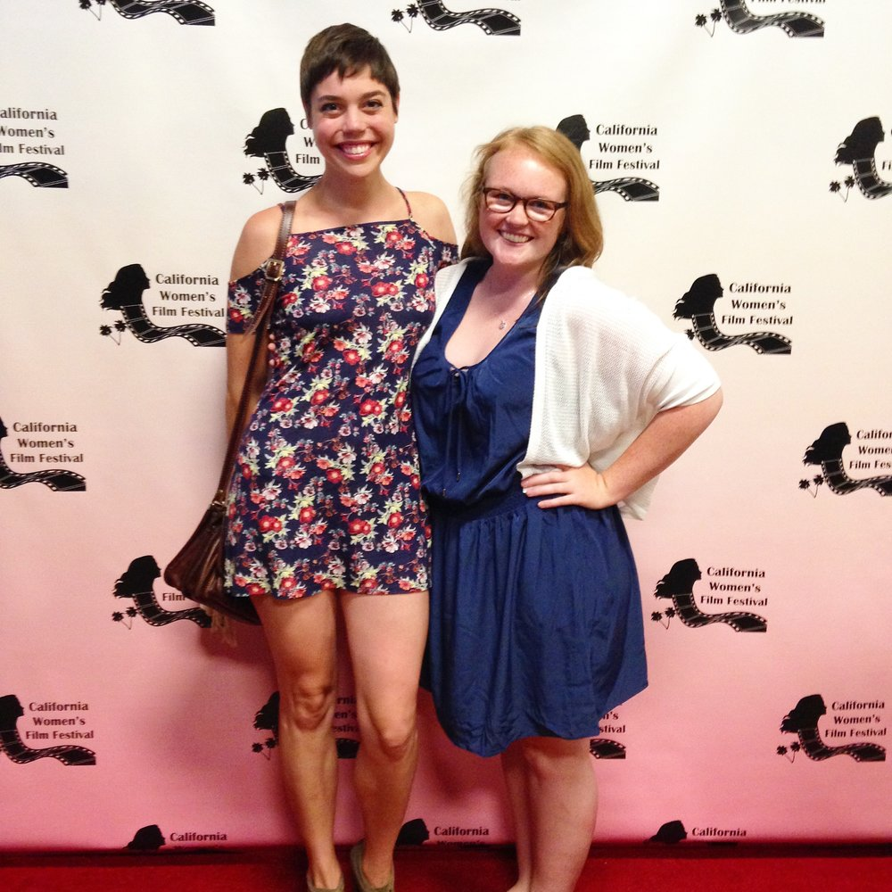 Morgan and actress Rose Leisner at Come Here Often? screening at California Women's Film Fest