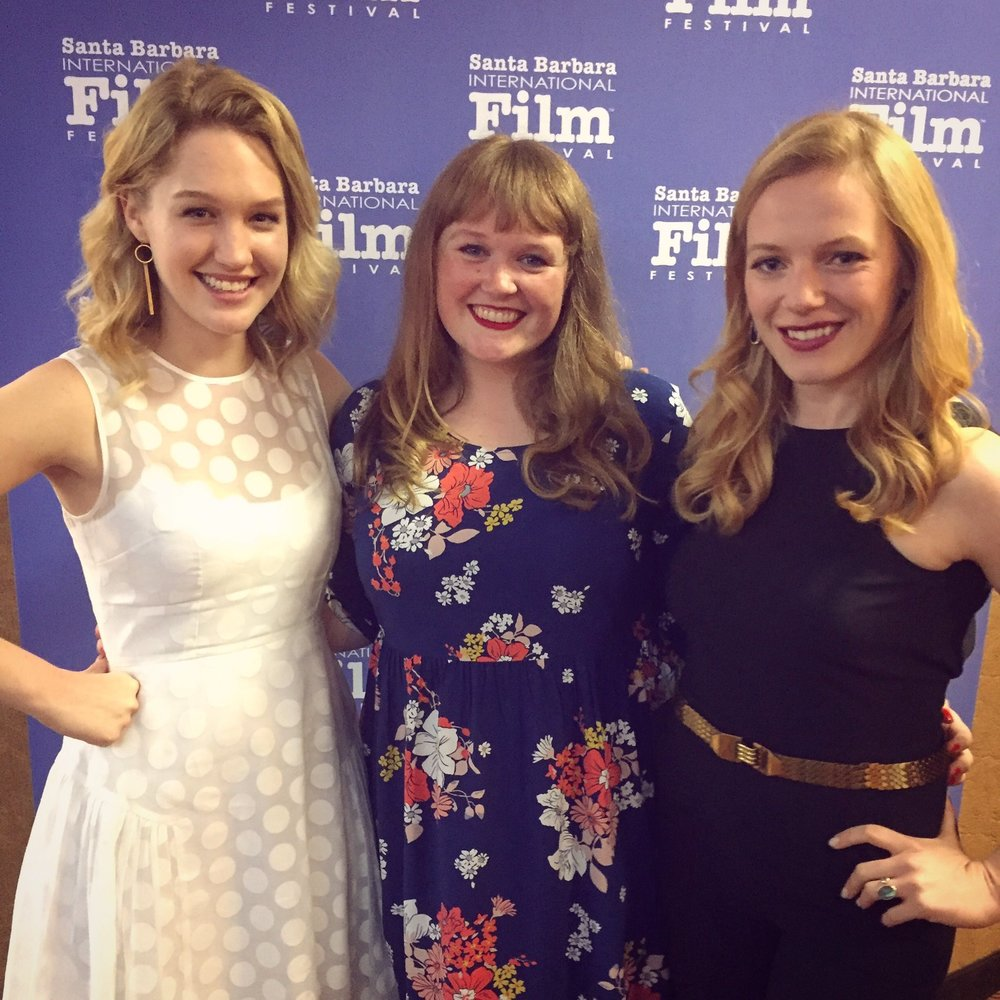 Actor Hope Lauren, Director/Writer Morgan Dameron and Actor Emma Bell at the Different Flowers World Premiere