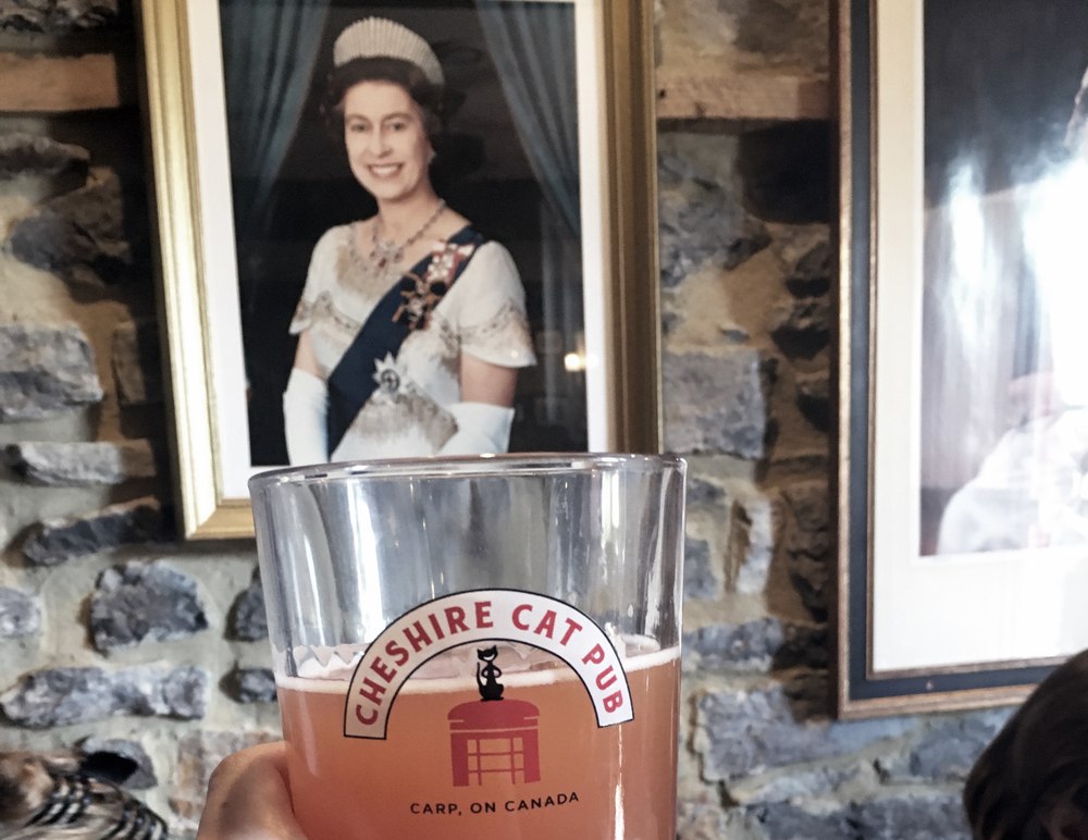 I forgot to take a picture at the Diefenbunker so enjoy this shot of me ironically toasting the Queen
