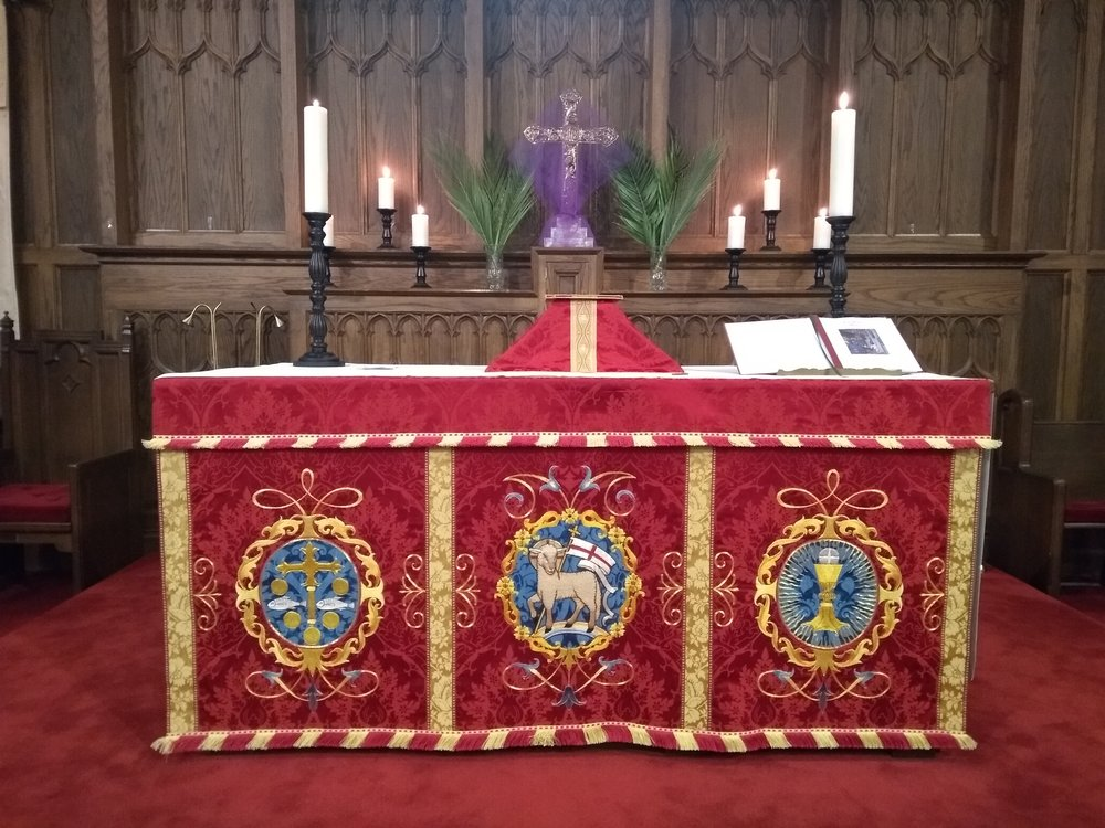 The Altar all dressed up for Palm Sunday!