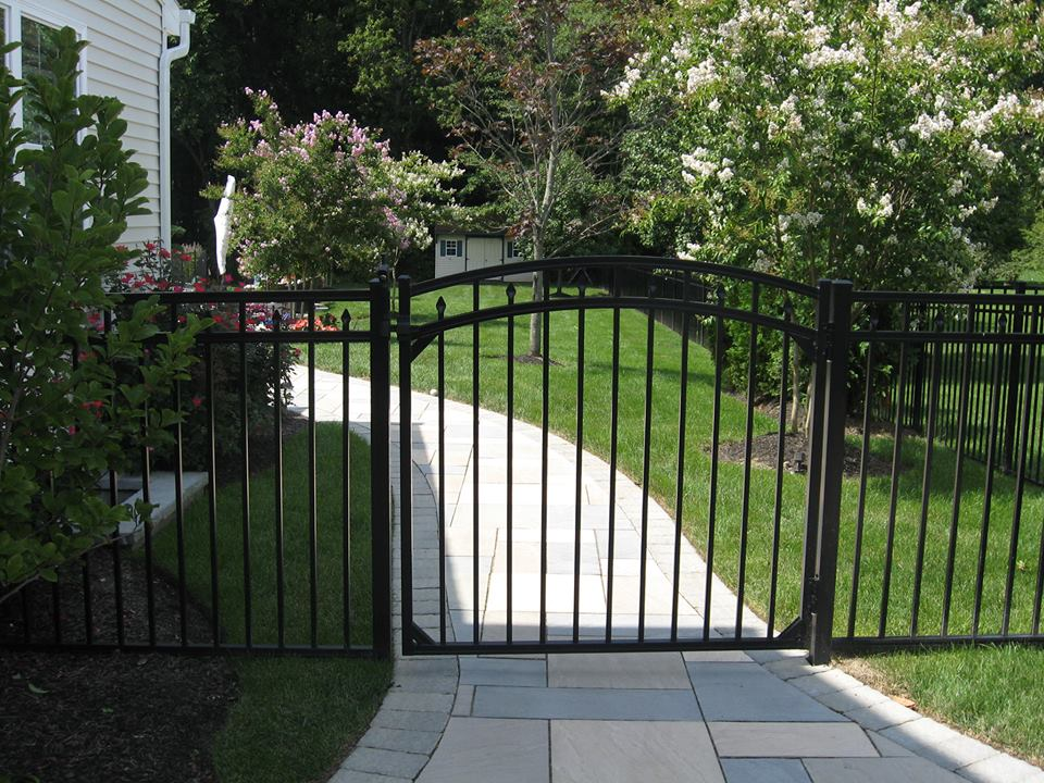 Gate adds a touch of class