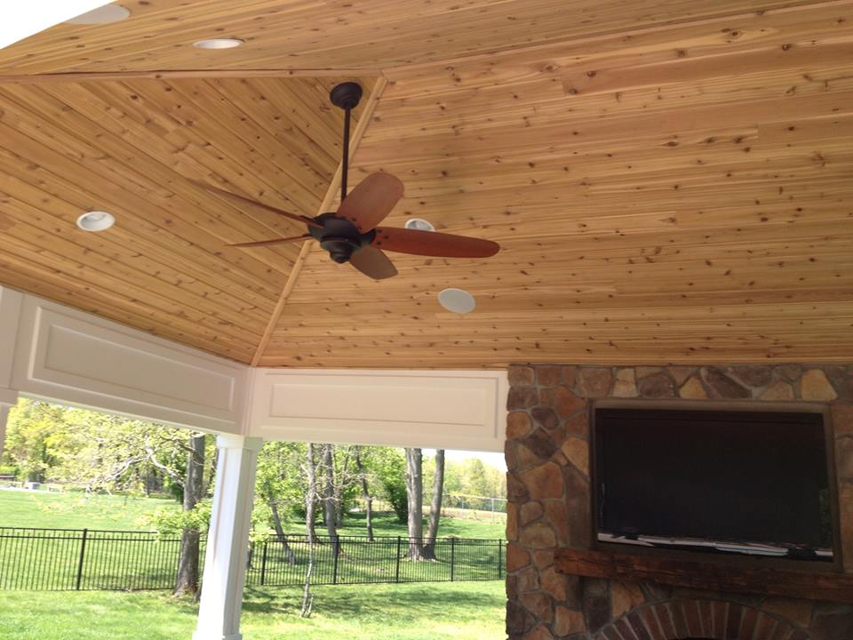 Beautiful vaulted outdoor ceiling