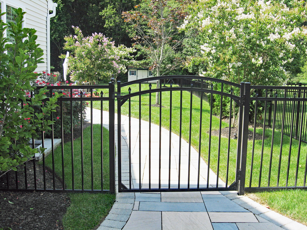 Wrought iron gates by The Burpee Group