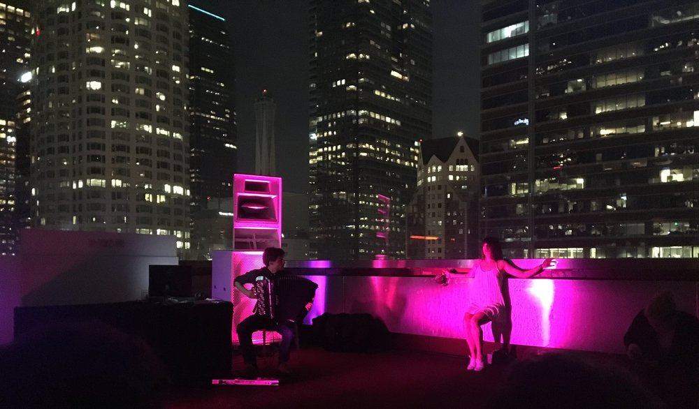 live performance - on the rooftop of the Standard Hotel, Downtown - Los Angeleson March 30 2018