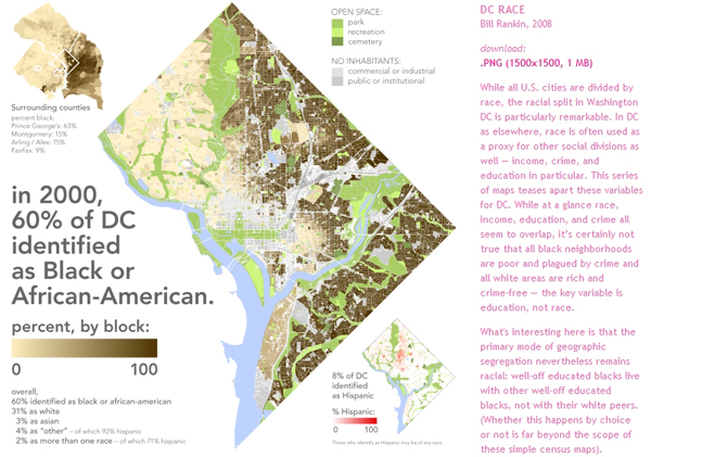 For years now,  Bill Rankin  has been churning out incredible maps, images and ways of looking at the world. Some of his work can be viewed at his website  radicalcartography.net . A word of caution: you may lose most of your afternoon to this site.