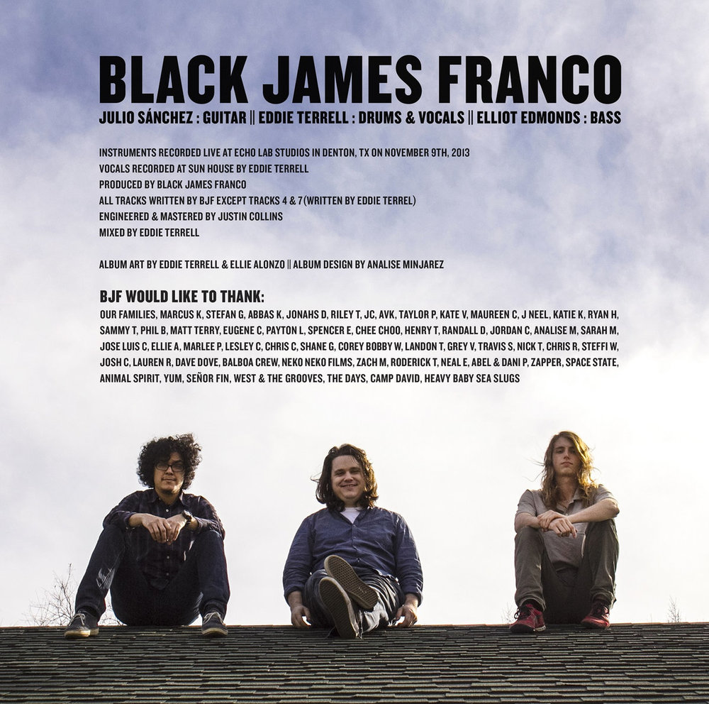 Black James Franco - Left Inside Sleeve