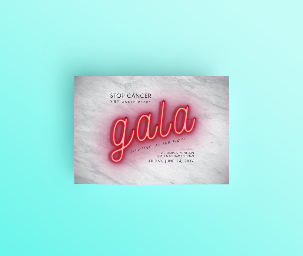 Stop Cancer // Event Collateral