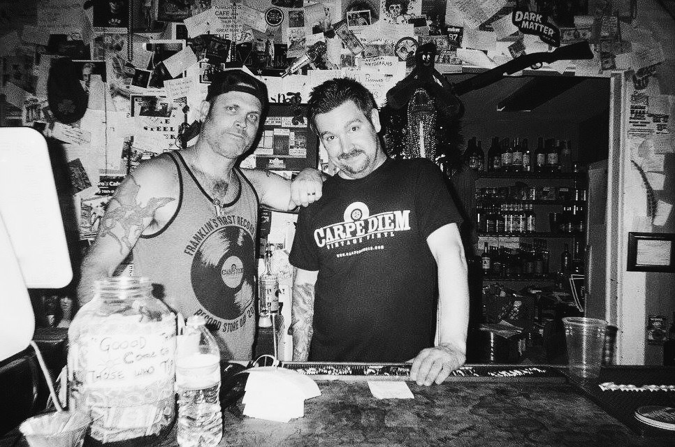 Here we have our owner, Will Jordan, and one of our favorite bartenders and performers, Aaron Paul serving up some cold brews and delicious food.