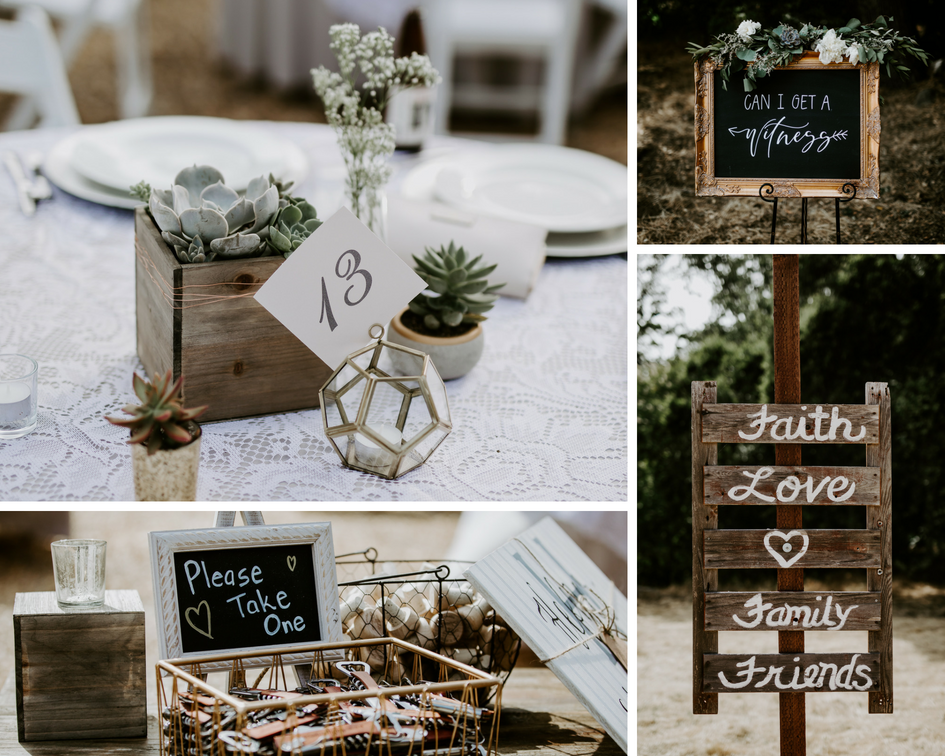 Rustic Wedding Signs