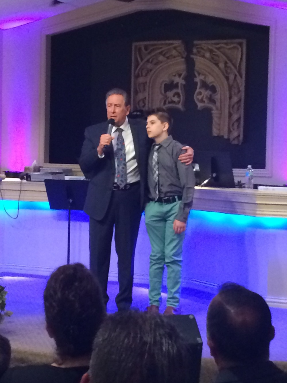 Winslow with his grandchild, Bryce, who was healed in 2013 at Victory Life Church Denton, Texas