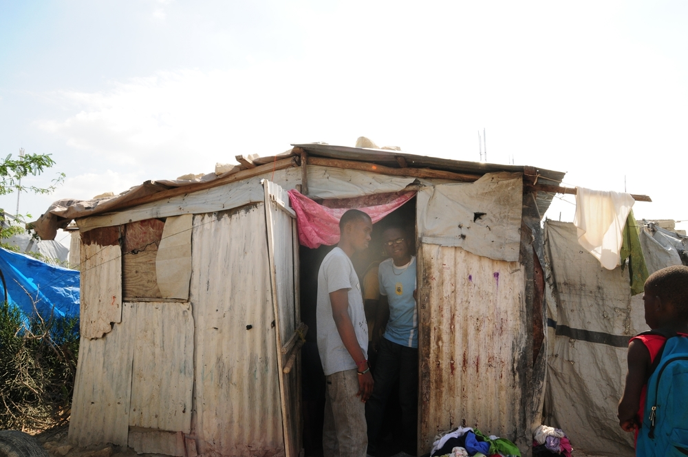 Haiti Mama Social Workers found Jacky's mama living in earthquake camp.