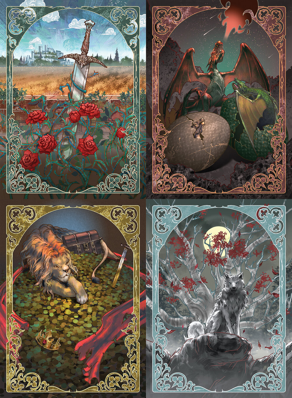 Stylised Custom Game of Thrones LCG Card Backs