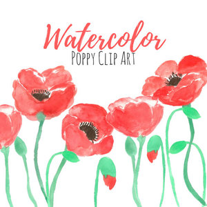 Floral clip art writelovely poppy flower clip art mightylinksfo