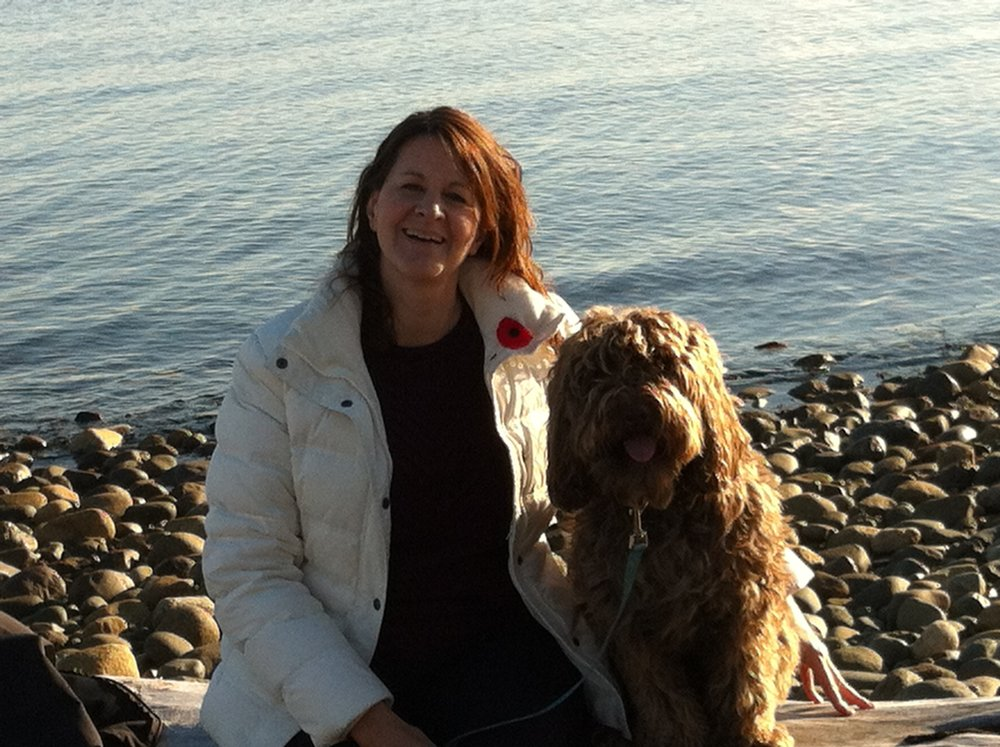 Lisa and Cooper at Point Holmes