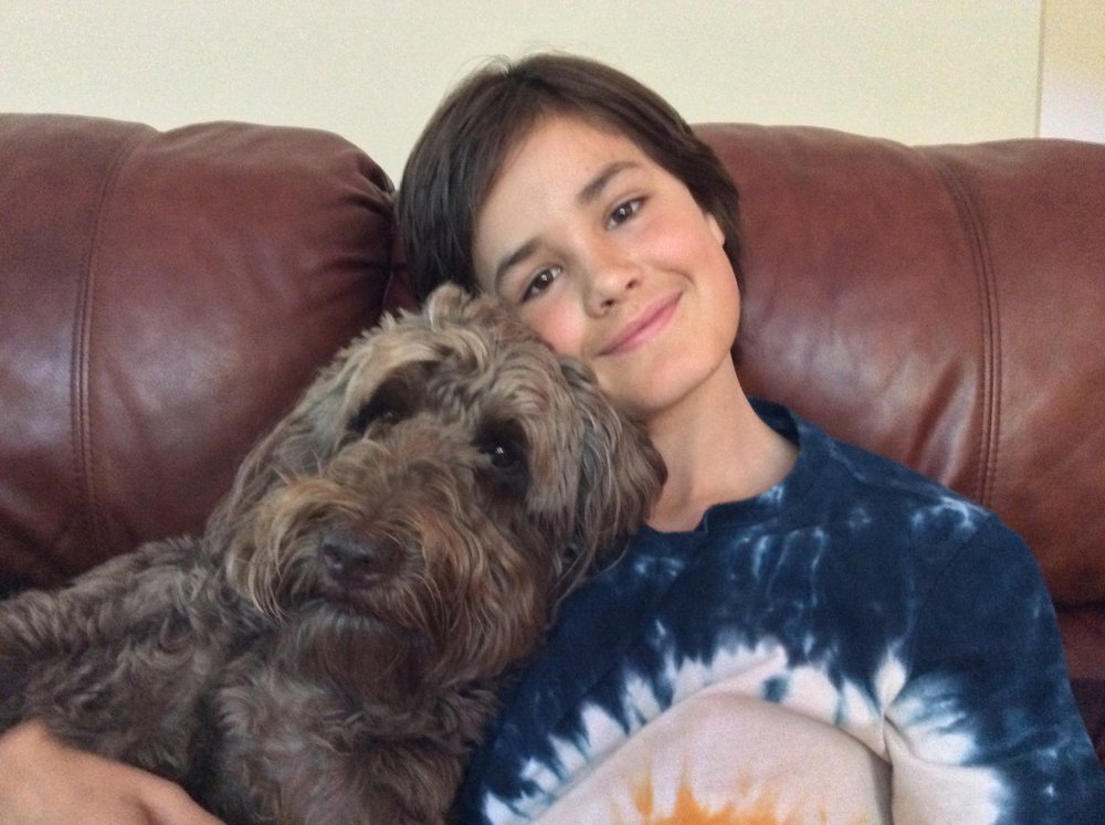 Couch cuddles with Dylan