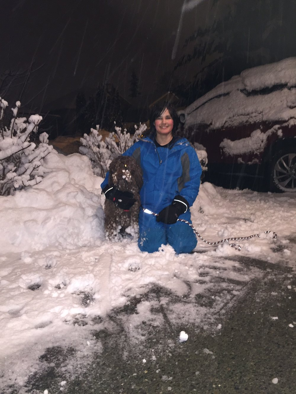 Snow playtime with Dylan