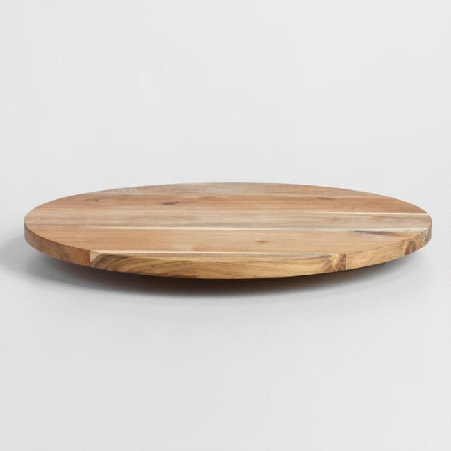 Acacia Wood Lazy Susan