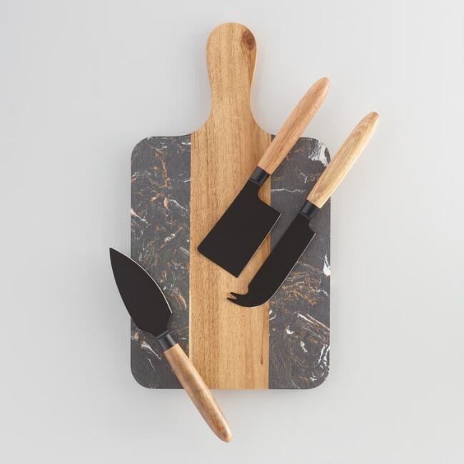 Marble Board with Knives