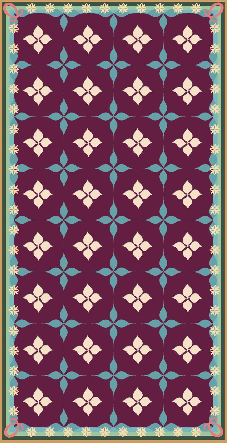 Mosaic Eggplant Purple