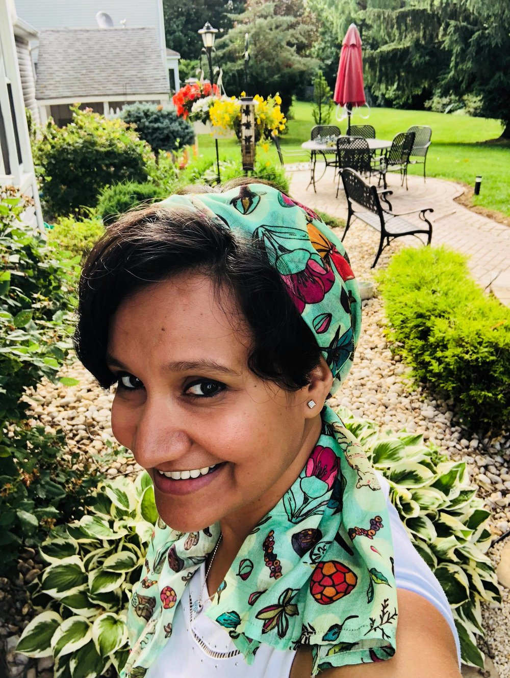 Spice Garden Green - headscarf style for the summer!
