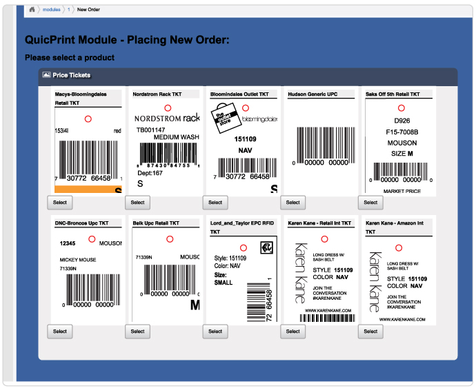 CAL-LINK.NET Our innovative online ordering system makes it easy to order variable data tags and labels for retail compliance