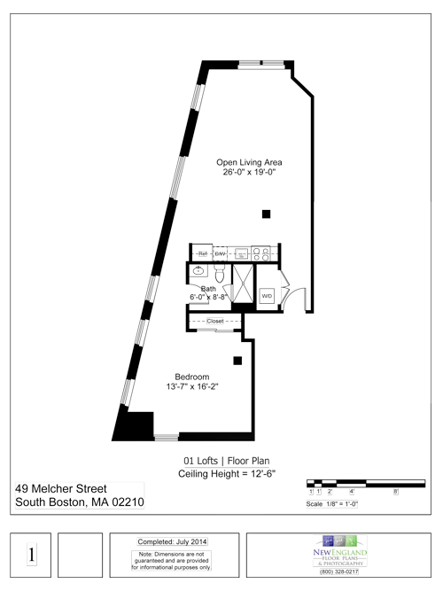 01 LOFT FLOOR PLAN - 912 SF | $2900-3250/MONTH