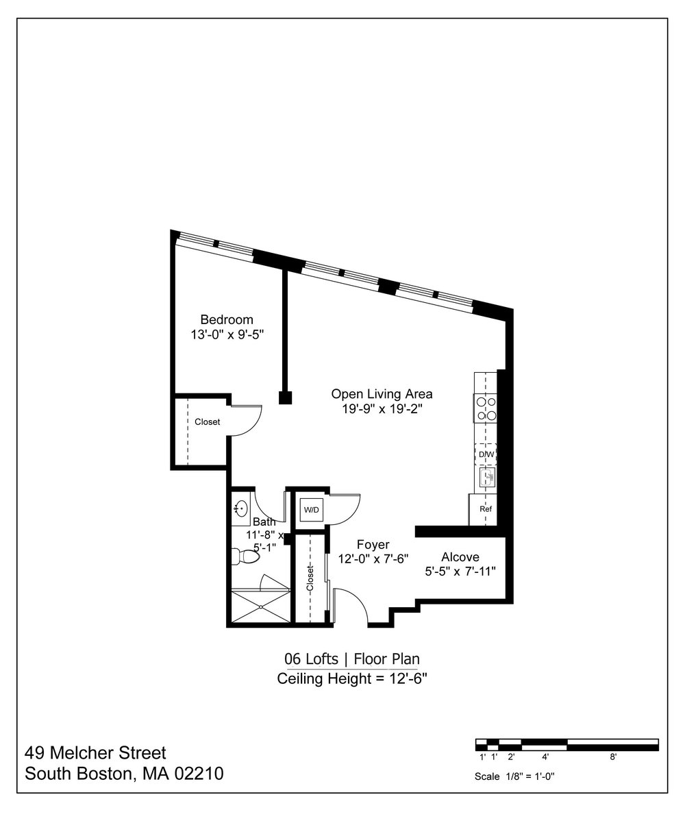06 LOFT FLOOR PLAN - 871 SF | $3050-3250/MONTH