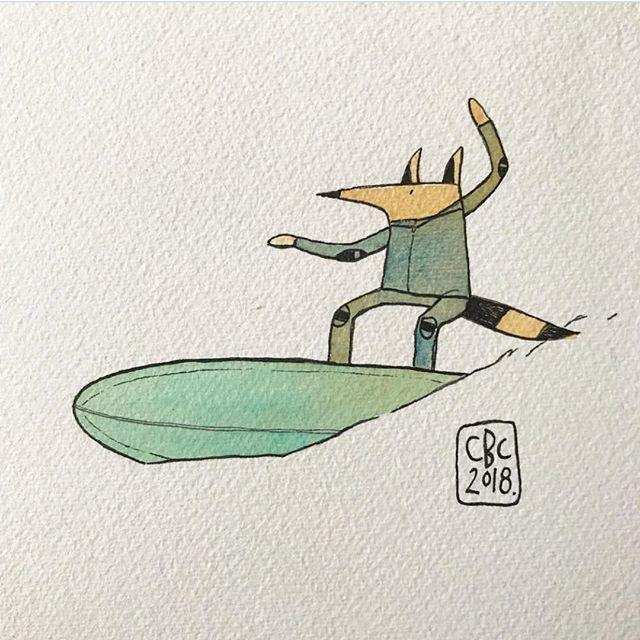 Its a dog life 🖌 @furrowsurfcraft #cristinebrailsfordcaro