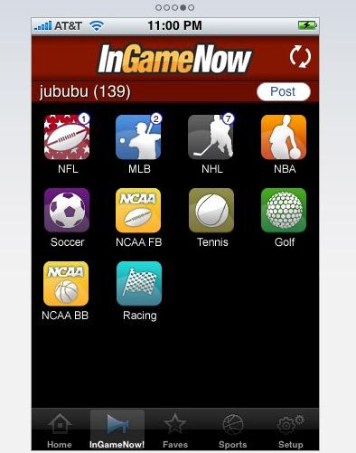 iPhone Sports App
