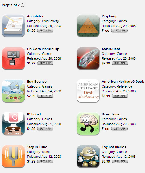Apple iPhone App Store