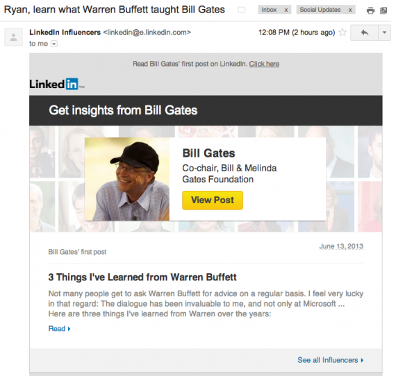 bill gates linkedin