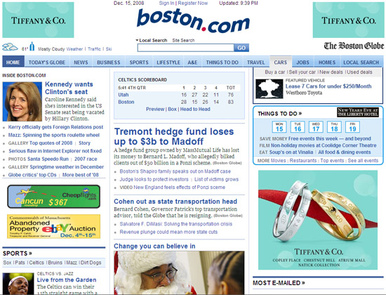 Boston.com Homepage
