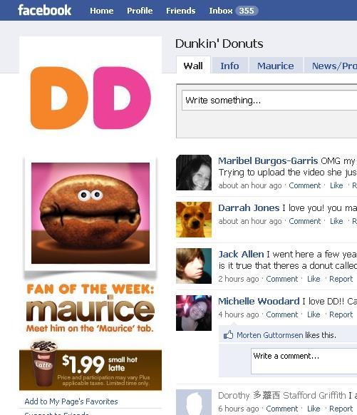 dunkin donuts meet maurice