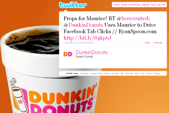 dunkin donuts twitter maurice
