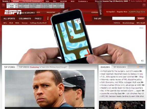 ESPN iPhone App .com