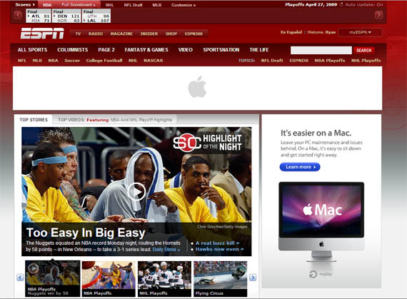 ESPN Apple Mac Rich Ads